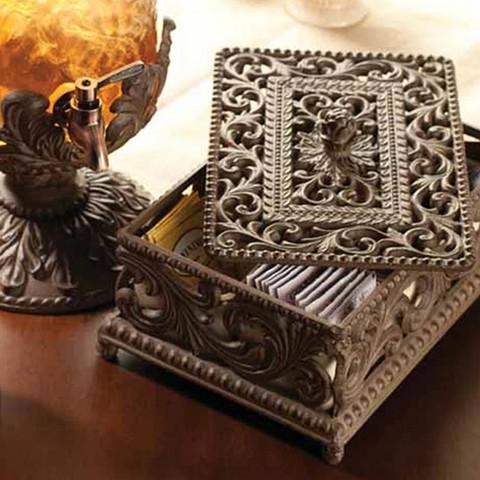 Iron and Ceramic Tea Box, European Style Tea Box