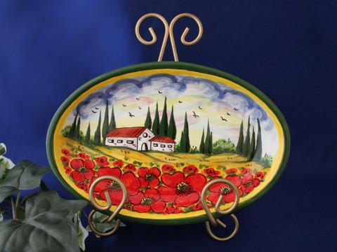 Tuscany Landscape Serving Dish