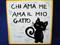 Italian Proverb Tile, Love Me Love My Cat, Chi Ama Me Ama Il Mio Gatto