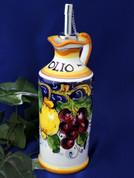 Italian Lemons Grapes Olive Oil Bottle Italy