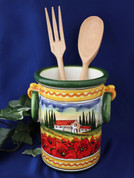 Tuscany Landscape Utensil Holder Wine Cooler