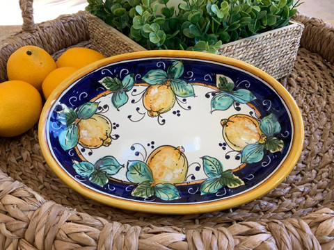 Italian Lemons Serving Dish