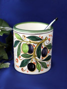 Italian Ceramic Pen Cup Toothbrush Holder, Italian Ceramic Wine Goblet Cup