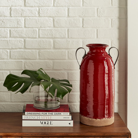 Red Terracotta Jug, Red Ceramic Handled Jug