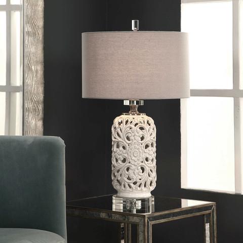Acanthus Scroll Ceramic Lamp