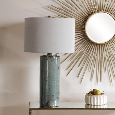 Aqua Blue Ceramic Lamp