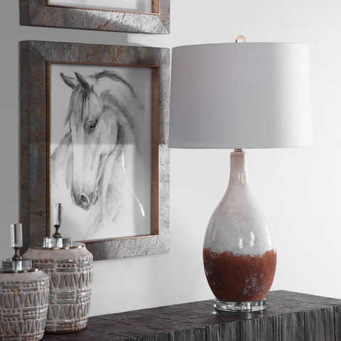 Earthy Terracotta Ceramic Lamp