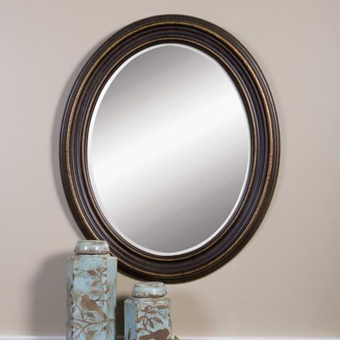 Oil Rubbed Bronze Oval Mirror
