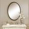 Sherise Beaded Bronze Oval Mirror