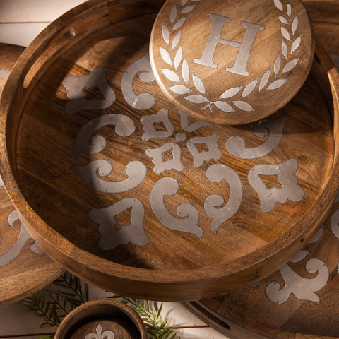 European Style Serving Tray, Tuscan Ottoman Tray
