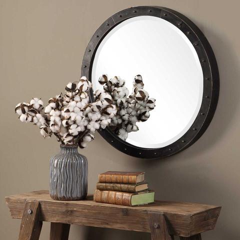 Tuscan Rustic Beldon Round Mirror