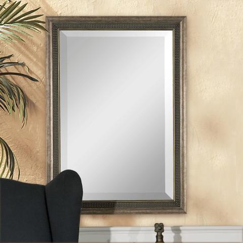 Set of 2 Falkner Antiqued Silver Mirrors