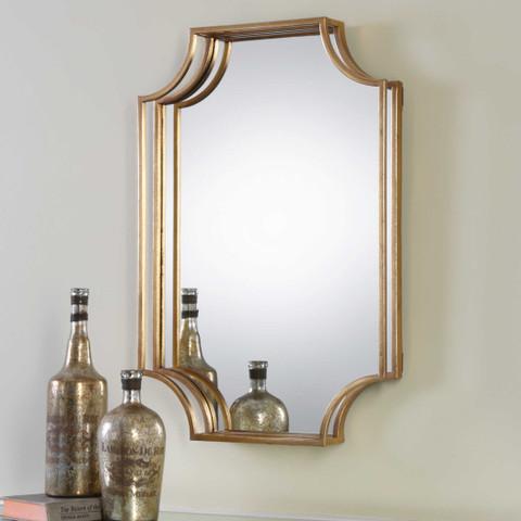 Antique Gold Lindee Mirror