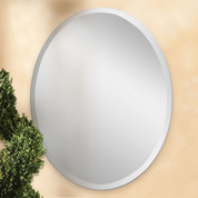Frameless Oval Mirror, Polished Edge Oval Mirror