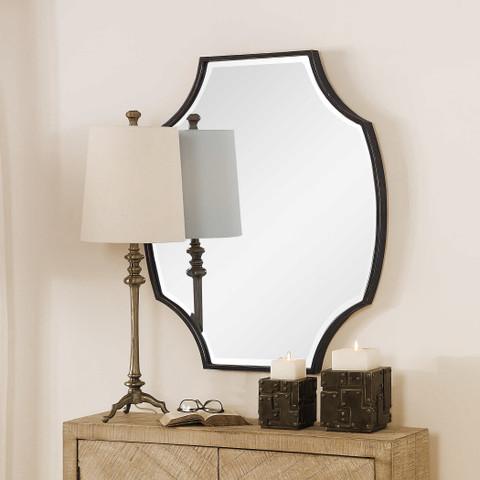 Scalloped Metal Mirror, Tuscan Mirror