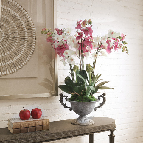 Silk Orchid Potted Plant Pink