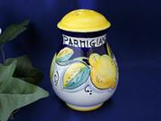 Deruta Lemons Cheese Shaker, Ceramic Cheese Shaker Handmade in Italy