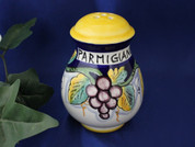 Deruta Lemons Grapes Cheese Shaker, Ceramic Cheese Shaker Handmade in Italy