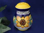Deruta Sunflower Cheese Shaker, Ceramic Cheese Shaker Handmade in Italy
