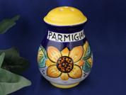 Deruta Sunflower Cheese Shaker, Ceramic Cheese Shaker Handmade in Italy