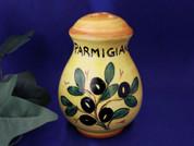 Deruta Olives Cheese Shaker, Ceramic Cheese Shaker Handmade in Italy