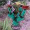 Reclaimed Metal Cactus Turquoise