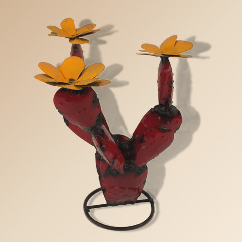 Reclaimed Metal Cactus Red