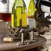 European Style Wine Holder & Stopper Set
