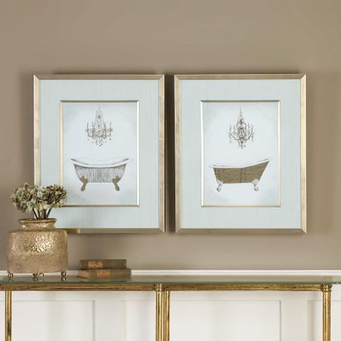 French Bath Framed Wall Art