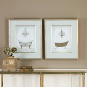 French Bath Framed Wall Art