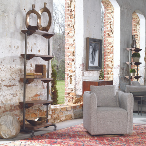 Tuscan Rustic Etagere Shelf