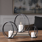 Curved Metal Open Candleholders
