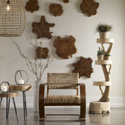 Natural Woven Fiber Accent Chair