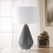 Ribbed Ceramic Carden Table Lamp