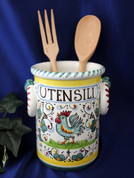 Orvieto Gallo Rooster Utensil Holder Wine Cooler