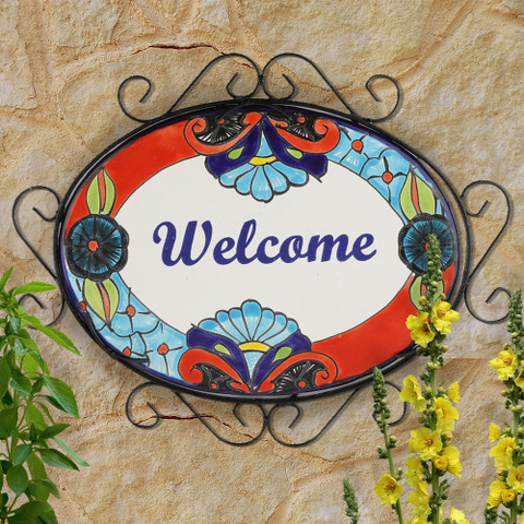 Talavera Welcome Sign