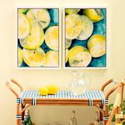 Lemon Wall Art Panels