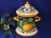 Tuscan Lemons Biscotti Jar Canister