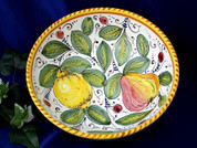 Tuscan Lemons Fruit Serving Bowl