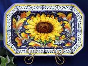 Tuscan Sunflower Octagonal Serving Platter