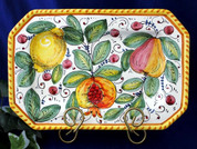 Tuscan Lemons Fruit Octagonal Serving Platter