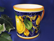 Italian Ceramic Tuscan Lemons Coffee Mug