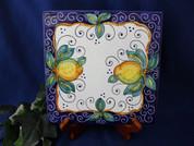 Italian Ceramic Tile, Deruta Lemon Tile, Italian First Stone