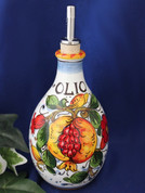 Tuscan Pomegranates Poppies Olive Oil Bottle