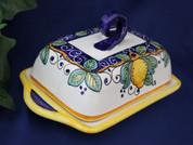 Deruta Italy Lemon Butter Dish