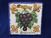 Italian Ceramic Wall Tile, Sicilian Wall Tile, Italian First Stone