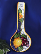 Tuscan Lemons Grapes Spoon Rest Made In Italy