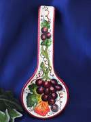 Tuscan Grapes Spoon Rest Made In Italy