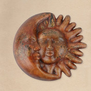 Clay Sun Face Eclipse, Tuscan Sun Wall Decor