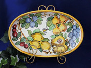 Tuscan Fruit and Bees Oval Dish